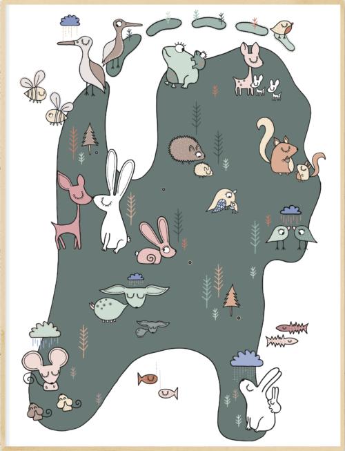 A4 Poster - Dierenwereld Nederland